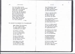 Jens Thise, digt til Maren på Bakken, 75 år