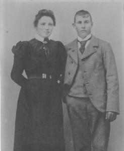 Anne og Niels Bertelsen, oldeforældre til Berit