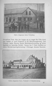 Dybro Jørgensens første forretning i Sindal