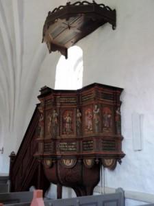 Vrensted kirke, prædikestol