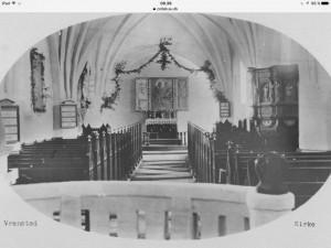 Vrensted kirke korbuen